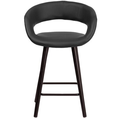 Palafox 24 Bar Stool Upholstery: Black