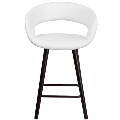 Palafox 24 Bar Stool Upholstery: White