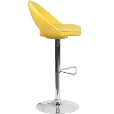 Nealy Adjustable Height Swivel Bar Stool Upholstery: Yellow