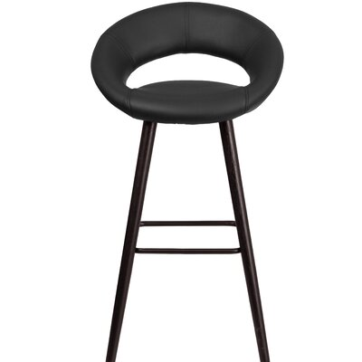 Dilworth 24.5 Bar Stool Upholstery: Black