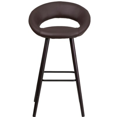 Dilworth 24.5 Bar Stool Upholstery: Brown