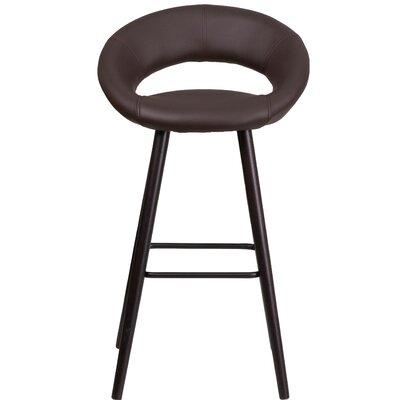 Kelsey Series 30 Bar Stool Upholstery: Brown