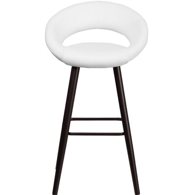 Dilworth 24.5 Bar Stool Upholstery: White