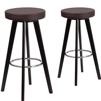 Salerno 30 Bar Stool Upholstery: Brown