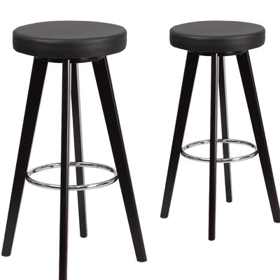 Salerno 30 Bar Stool Upholstery: Black