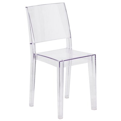 Armless Phantom Series Transparent Stacking Chair