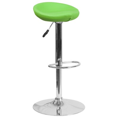 Nowak Adjustable Height Swivel Bar Stool Finish: Green