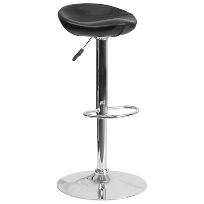 Nowak Adjustable Height Swivel Bar Stool Finish: Black