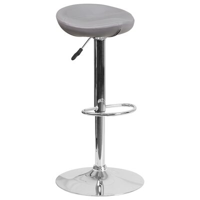 Adjustable Height Swivel Bar Stool Finish: Gray