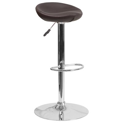 Adjustable Height Swivel Bar Stool Finish: Brown