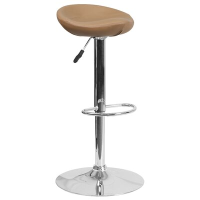 Nowak Adjustable Height Swivel Bar Stool Finish: Cappuccino