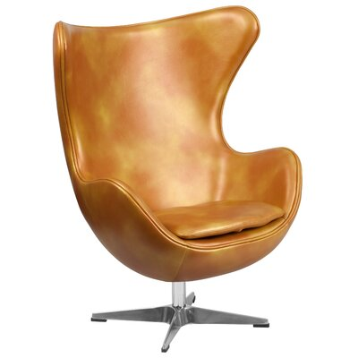 Mengni Gold Leather Chair