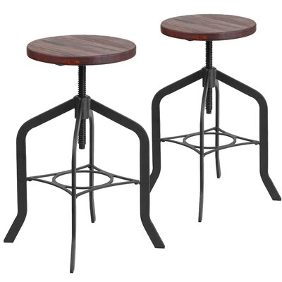 Bing Adjustable Height Swivel Bar Stool