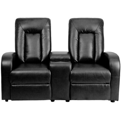 Eclipse Series Home Theater Recliner (Row of 2) Color: Black