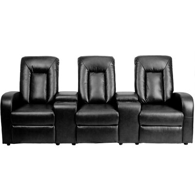 Eclipse Series Home Theater Recliner (Row of 3) Color: Black