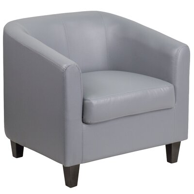 Olanta Bonded Leather Lounge Chair Seat Color: Gray