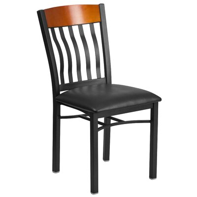 Eclipse Series Solid Wood Dining Chair Finish: Cherry