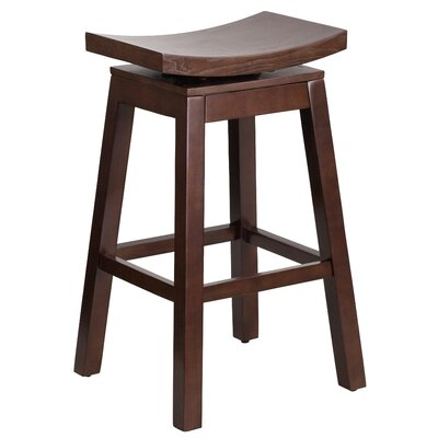 30'' Swivel Bar Stool Finish: Cappuccino