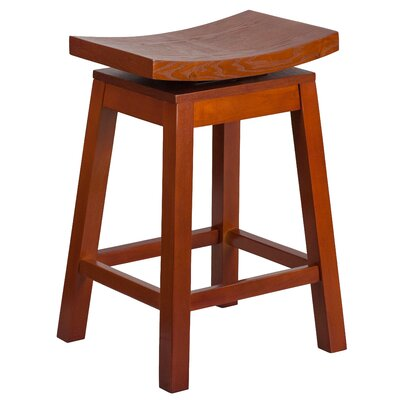 26 Swivel Bar Stool Finish: Light Cherry