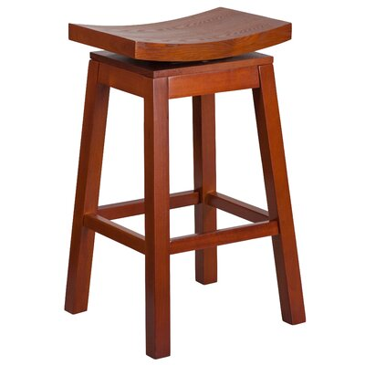 30'' Swivel Bar Stool Finish: Light Cherry