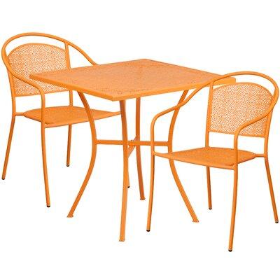3 Piece Bistro Set Finish: Orange