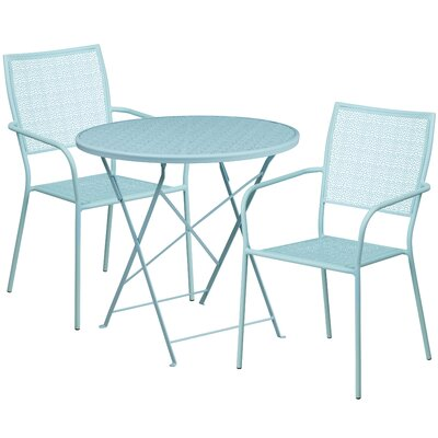 3 Piece Bistro Set Color: Sky Blue