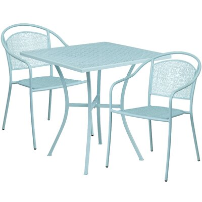 3 Piece Bistro Set Finish: Sky Blue