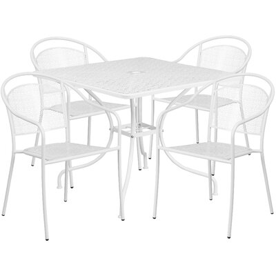 5 Piece Dining Set Finish: White