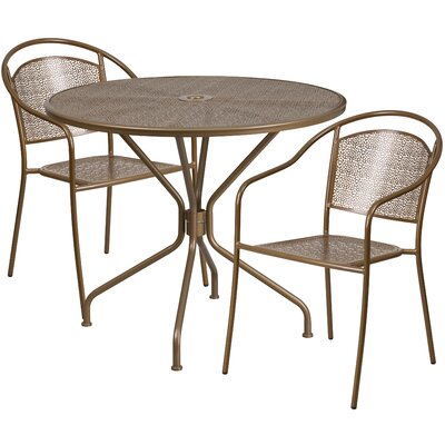 3 Piece Bistro Set Color: Gold