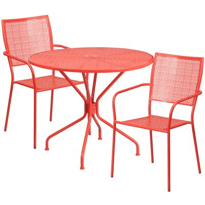 3 Piece Bistro Set Color: Coral