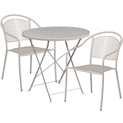 3 Piece Bistro Set Finish: Light Gray