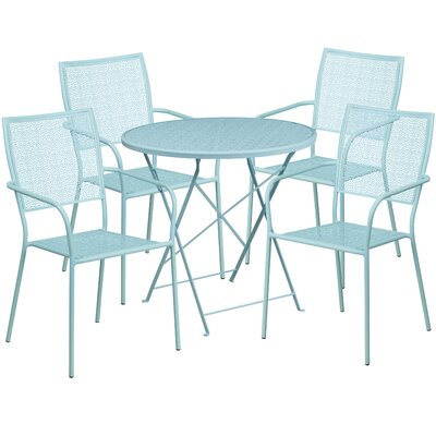 5 Piece Dining Set Finish: Sky Blue