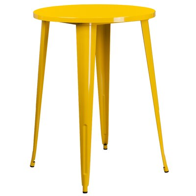 Bar Table Finish: Yellow, Table Size: 30 L x 30 W