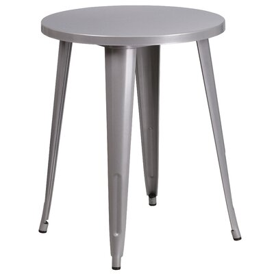 Bistro Table Table Size: 24 L x 24 W, Finish: Silver