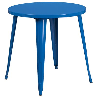 Bistro Table Finish: Blue, Table Size: 30 L x 30 W