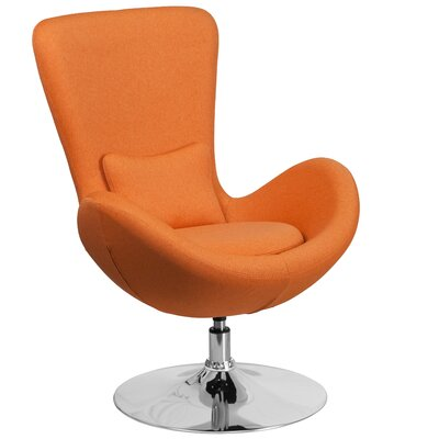 Palisades Lounge Chair Seat Color: Orange