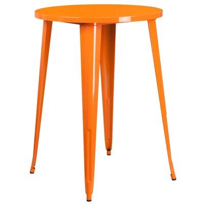 Bar Table Finish: Orange, Table Size: 30 L x 30 W