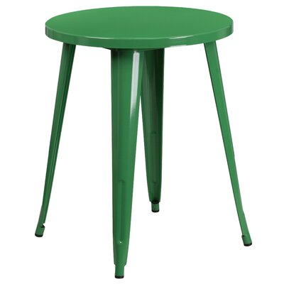 Bistro Table Table Size: 24 L x 24 W, Finish: Green