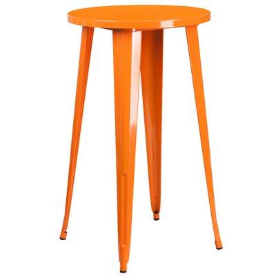 Bar Table Table Size: 24 L x 24 W, Finish: Orange