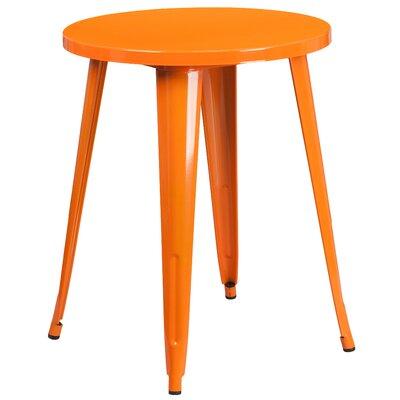 Bistro Table Table Size: 24 L x 24 W, Finish: Orange