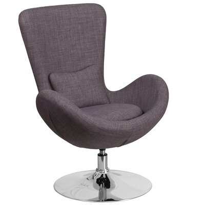 Egg Series Lounge Chair Seat Color: Dark Gray