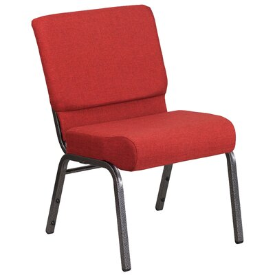 Hercules Series Guest Chair Seat Color: Crimson, Finish: Silver
