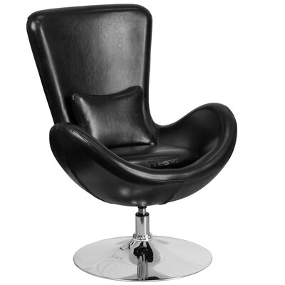 Palisades Leather Lounge Chair Seat Color: Black