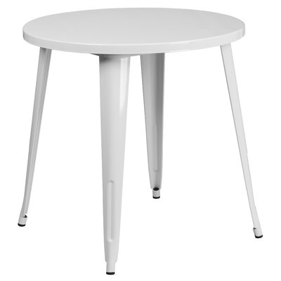 Bistro Table Finish: White, Table Size: 30 L x 30 W
