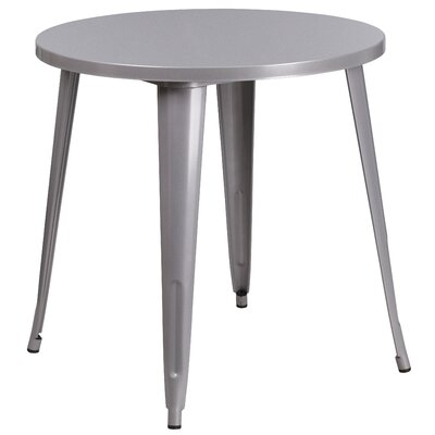 Bistro Table Finish: Silver, Table Size: 30 L x 30 W