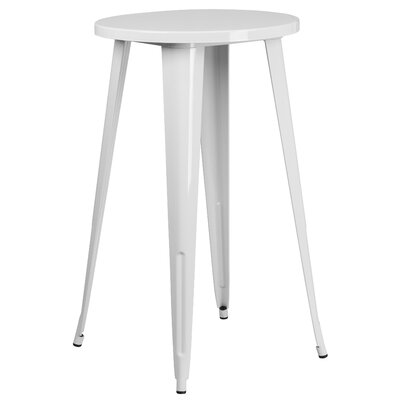 Bar Table Table Size: 24 L x 24 W, Finish: White