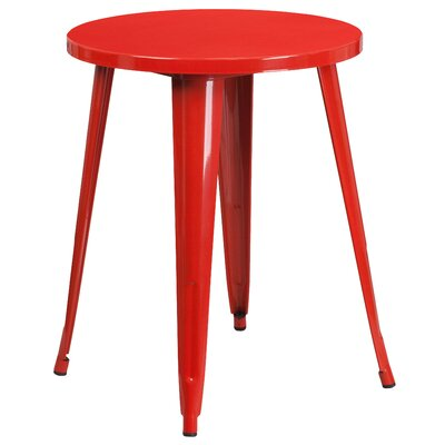 Bistro Table Table Size: 24 L x 24 W, Finish: Red