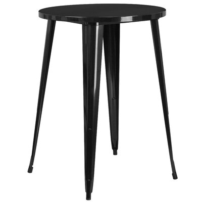 Bar Table Finish: Black, Table Size: 30 L x 30 W
