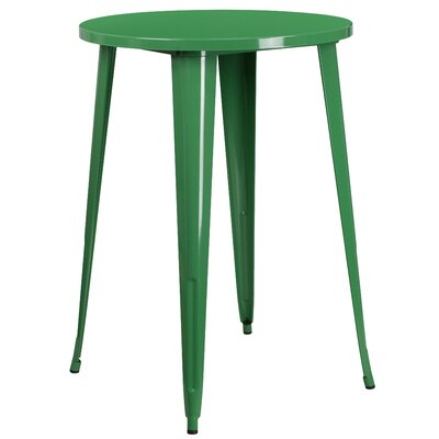 Bar Table Finish: Green, Table Size: 30 L x 30 W