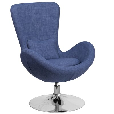 Egg Series Lounge Chair Seat Color: Blue